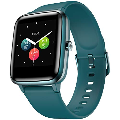 Noise ColorFit Pro 2 Full Touch Control Smart Watch with 35g Weight & Upgraded LCD Display,IP68 Waterproof,Heart Rate Monitor,Sleep & Step Tracker,Call & Message Alerts & Long Battery Life (Teal Green)