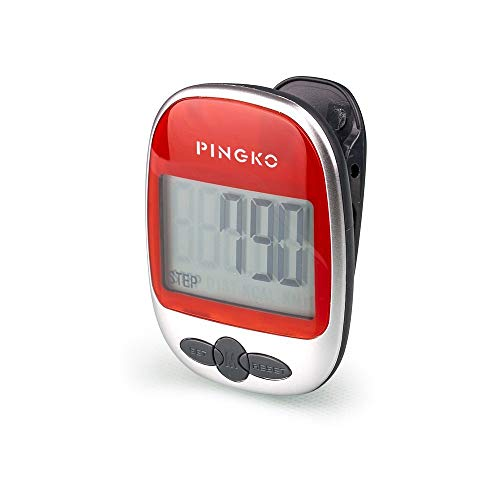 Pingko Outdoor Multi-function Portable Sport Pedometer Step/distance/calories/ Counter - Red