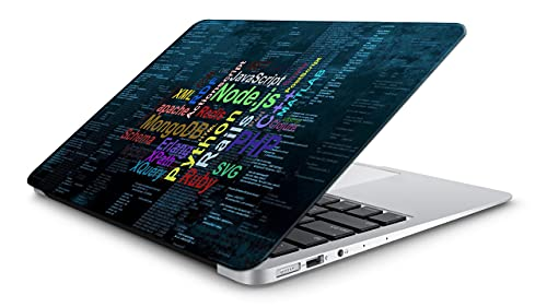 Yuckquee Coding/Programming Laptop Skin/Sticker/Vinyl for 14.1, 14.4, 15.1, 15.6,17.5 inches for Laptop or Notebook Printed on 3M Vinyl, HD,Laminated, Scratchproof. A-32