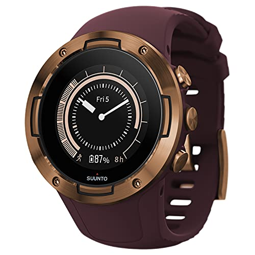 SUUNTO 5 BURGUNDY COPPER Sports Watch, great battery life, robust multisport compact GPS watch (No-Cost EMI Available)