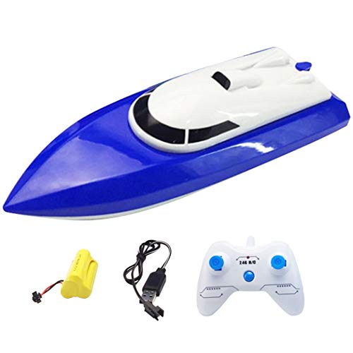 Anjetan RC Boat High Speed 2.4G Waterproof RC Yacht Boat Racing Boat Remote Control Boat RC Pool Toy for Kids Adults Kid Rc Boats for Kids Racing