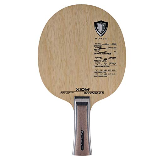 Xiom Offensive S - FL Table Tennis Blade (5 Ply)- Exclusive by TableTennisRUs