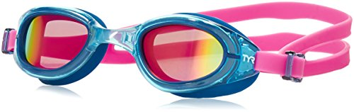 TYR Women's Special OPS 2.0 Polarized Goggles, Pink/Navy, One Size