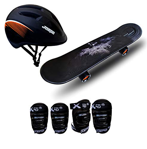 jaspo Boy's and Girl's Power Intact Skateboard for Beginners (6 Years & Above, Black, 26 inches)