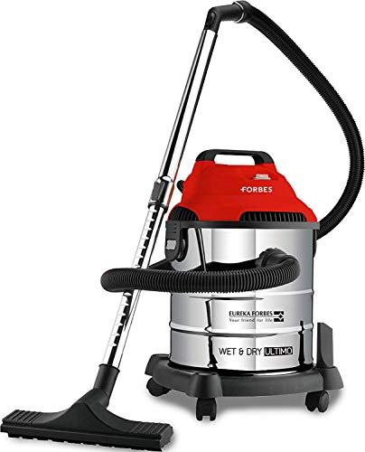 Eureka Forbes Wet and Dry Ultimo Vacuum Cleaner with 1400 Watts High Power Suction and Blower, 20 Litres Tank Capacity, comes with multiple accessories (Red)