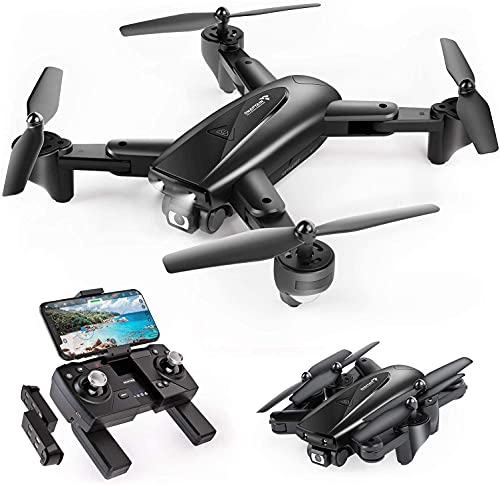LIVOX Drone with 780p Camera Live Video,WiFi FPV Drone for Adults with 780p 120° Wide Angle Camera 1300 Mah Long Flight time Auto Hover Fold able RC Drone Quad-copter