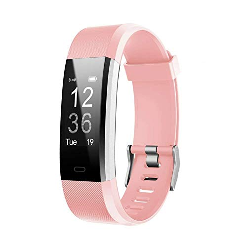 GRAAC Fitness Tracker HR, Activity Tracker Watch with Heart Rate Monitor, Waterproof Smart Fitness Band with Step Counter, Calorie Counter, Pedometer Watch for Kids Women and Men (Pink)