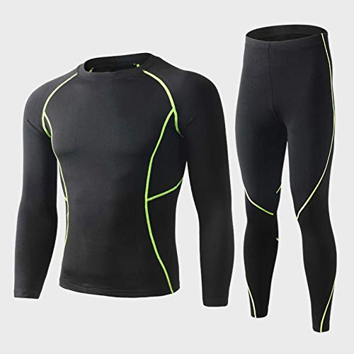 Belity Men Thermal Underwear Set Sweat Shirt Long Johns Bodycon Fit Breathable Running Skiing Winter Sports Gear