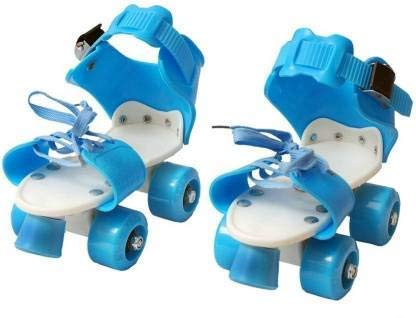 Culina Roller Skates for Kids Age 5-12 Years Adjustable 4 Wheel Skating Shoes Very Smooth (Multi Color)
