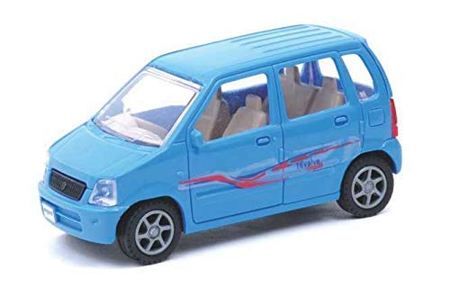 HATELLO Toys Car for Kids Pullback car and Bike   Non Battery Operated   Pull Back   Collect All Fast   Best Birthday Gift ( Random Color Deliver ) Made in India Product. (Wagon - R)