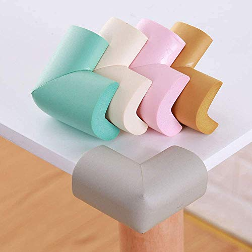 KPNG Corner Protector Baby Proof | Corner Guard Child Safety for Babies, Toddles, Kids | Foam Corner Covers for Furniture, Table, Desk (Random, 4 Piece)