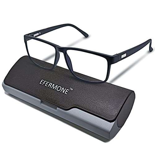 EFERMONE® Premium Blue Ray Cut Blue Light Filter Computer Glasses With Antiglare for Eye protection And Also Specialized Lens For Night Driving (Zero Power,Blue Coated)