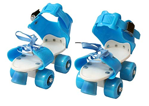 Dry Skates Shoes Skating Shoes for Kids with Front Brake Kids Roller Adjustable Inline Dry Skates Shoes (Age Group 5-10 Years) Multicolor for Boys Girls Children kids