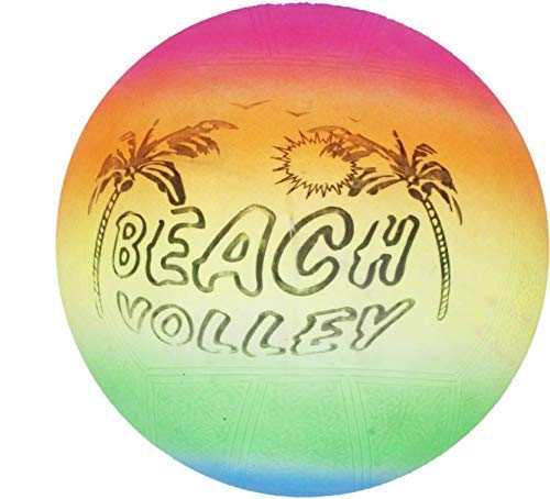 Onmall Beach Ball Soft Inflatable Volleyball Kids Children Game Rainbow Color