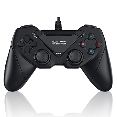 RPM Euro Games Laptop/PC Controller Wired for Windows - 7, 8, 8.1, 10 and XP, Ps3(Upgraded with XYAB Buttons)