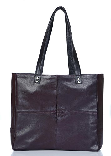 Chalk Factory Genuine Natural Leather Women's Cherry Tote Bag (CFTOTE02CH)