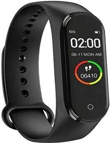 SHOPTOSHOP M3H Smart Band Fitness Tracker Watch with Heart Rate, Activity Tracker Body Functions Like Steps Counter, Calorie Counter, Heart Rate Monitor LED Touchscreen (Black)