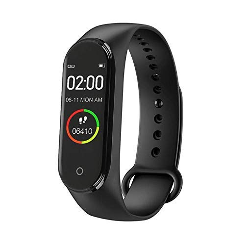 SHOPKING M4 Smart Band Wireless Sweatproof V4.0| Fitness Band| Activity Tracker| Blood Pressure| Heart Rate Sensor| Sleep Monitor| Step Tracking All Android Device & iOS Device Pro_M4 (Black)