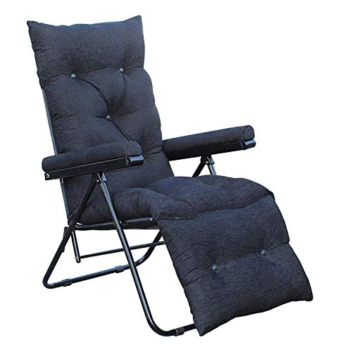 Spacecrafts Recliner Folding Easy Chair for Home Relax (Black)