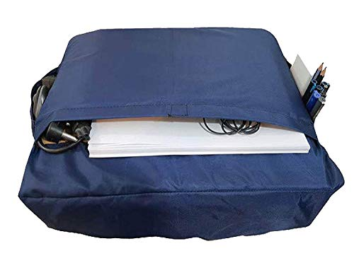 Toppings Dust Protective Nylon Washable & Waterproof Printer Cover with Multipurpose Utility Pockets for Brother DCP-T820DW All-in One Ink Tank Refill System Printer.