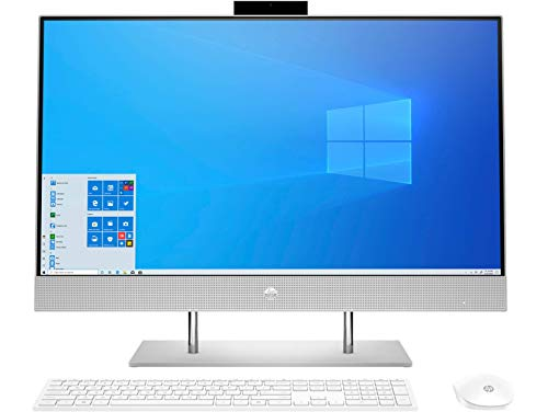 HP All-in-One 27-Inch FHD with Alexa Built-in (11th Gen Intel Core i7-1165G7/16GB/1TB SSD/Win 10/IR Camera/MS Office 2019/Natural Silver), 27-dp1118in