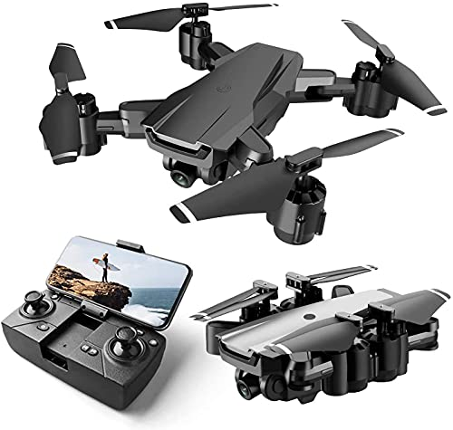 Flowres Foldable GPS FPV Drone with 1080P HD 4k Camera Live Video for Beginners, RC Quadcopter with GPS Return Home, Gesture Control, Auto Hover & 5G Wifi Transmission Black