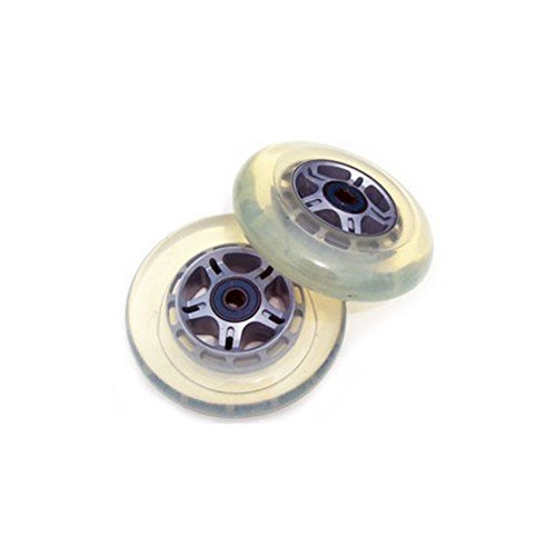 2 CLEAR REPLACEMENT Wheels ABEC7 Bearings SCOOTER 100mm