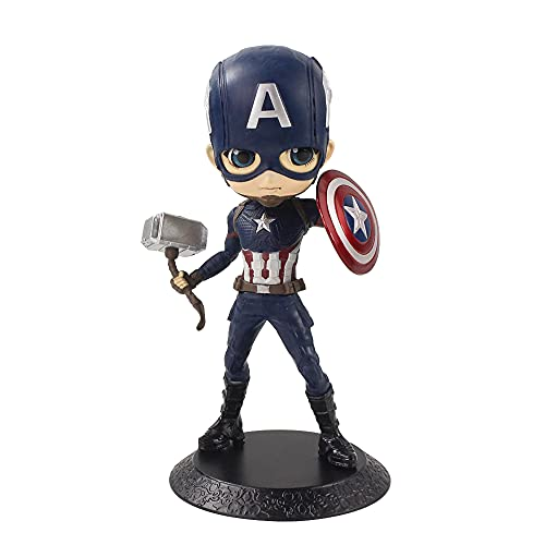 AUGEN Captian America 1 Action Figure Limited Edition for Car Dashboard, Decoration, Cake, Office Desk & Study Table (15cm)(Pack of 1)