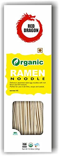 Red Dragon Japanese Ramen Noodles Fresh And Delicious Organic Tasty Cuisine 300g (Pack of 1) |No Preservatives
