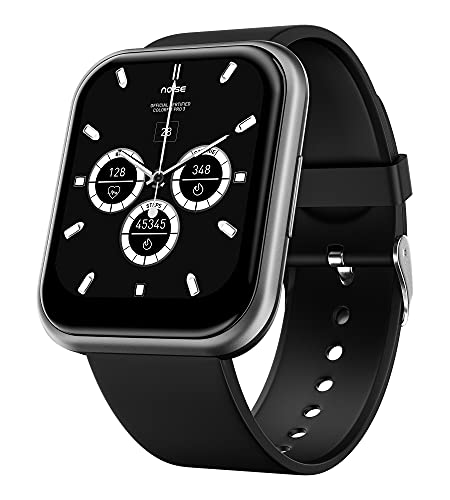 Noise ColorFit Ultra Bezel-Less Smart Watch with 1.75' HD TruView Display, 60 Sports Modes, SpO2, Heart Rate, Stress, REM & Sleep Monitor, Calls & SMS Quick Reply, Stock Market Info (Gunmetal Grey)