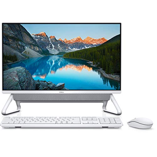 Dell Inspiron 24 5400 All in One Desktop (11th Generation Core i7-1165G7/8GB RAM/ 1TB HDD/ 512GB SSD/Windows 10/ MS Office) 23.8' FHD All in One Desktop, Silver
