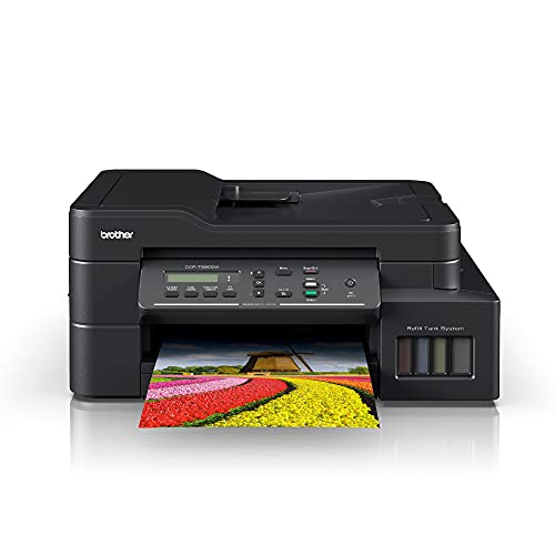 Brother DCP-T820DW All-in One Ink Tank Refill System Printer with Wi-Fi and Auto Duplex Printing, Black, Medium