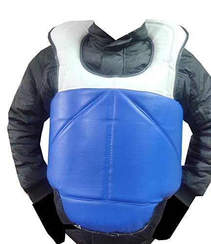Aegis Kickboxing Karate MMA, Muay Thai, Boxing,Training Chest Guard Body Shield Kick Boxing Body Support Taekwondo Fight Reversible Two Side wear Chest Guard Protector with Two Colour in Free Size