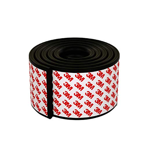 pepplo® Baby Proofing Edge Corner Protector, Table Bumper Guard, Soft Rubber Foam Guard, 3M Pre-Taped Extra Large Strip, 6.5ft Baby Proof Corner Guard Heavy-Duty (Black)