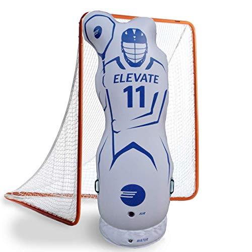 Junior 4.5 ft Inflatable Lacrosse Goalie Shot Blocker and Dodging Dummy' - Dodge and Shoot with this New Lacrosse Goal Target Training Aid w/ Pump for Boys and Girls Lax Training Equipment