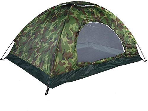 Diswa Fabric, Polyester Military Picnic Camping Portable Waterproof 2 Person Dome Tent (Green)