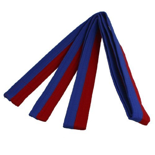 XIOMI Red and Blue Martial Arts Karate Tae Kwon Do Judo Belts -260 cm Long