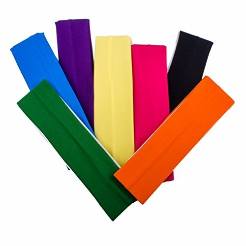 Morges Set of 7 Pcs Headband for Sport Yoga Fitness Running and Workout for Women and Girls in Multicolor Pack of 1