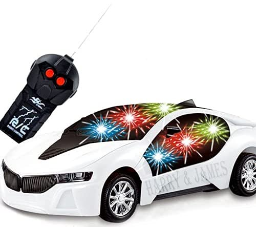 HARRY & JAMES® Remote Controlled car, 2 Function Remote Control Car, Racing Car, Sports Car, New Model RC Car, Remote car for Kids Boys & Girls (Multi Color & Multi Design)