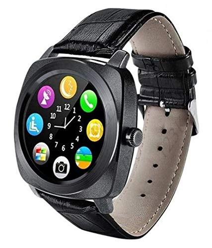 Squaircle X3 Phone with Camera & Sim Card, Microphone, Touch Screen, Multi-Language Supported Bluetooth Smartwatch for Android Mobile & Tablets