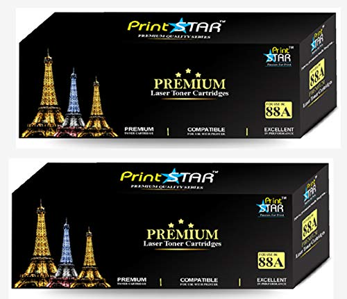 Print Star 88A Single Colour Black Laser Toner Cartridge Replacement of HP CC388A compatible with HP LaserJet P1106, P1108, 1136, 1213, 1216, 9107, 1008 (Pack of 1)