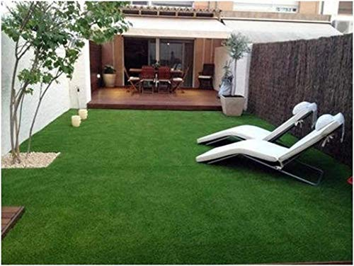 Yazlyn Collection High Density Artificial Grass Carpet Mat, Doormat for Balcony, Lawn, Door with 4 Layers Protection(5 X 8 Feet)