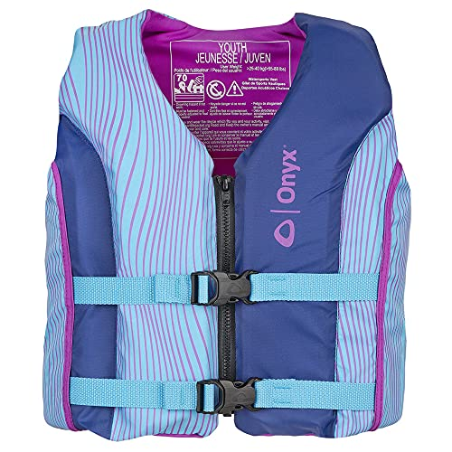 ONYX All Adventure Youth Paddle & Water Sports Life Jacket, Blue