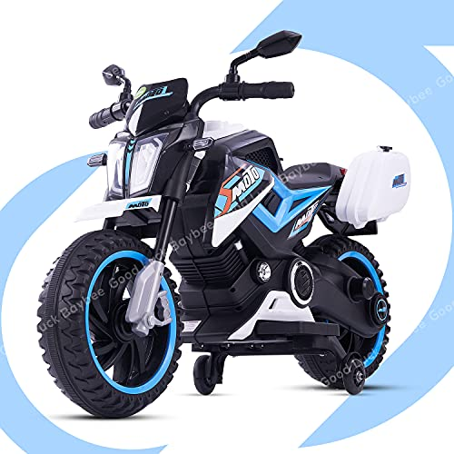 GoodLuck Baybee Moto Sports Electric Motor Bike 6V Rechargeable Battery Operated Motorcycle Ride on Bike-Ride on Kids- Kids to Drive Toy Bike Suitable for for Boys, Girls Age for 1-3 Years (White)