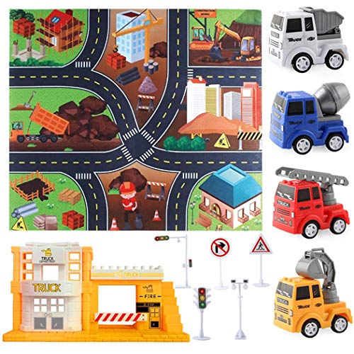 Dorakitten Traffic Signs Playset Multicolor Vehicles Play Set Area Rug Carpet Game Area Rug Road Mats Best Gift for Kids Boys