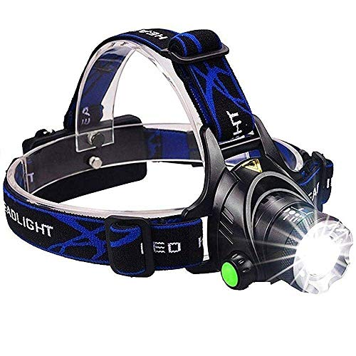 Care 4 Super Bright Headlamp Light   Rechargeable Head Torch   Hands Free Head Flashlight LED Lamp Water Resistant Drop Resistant Head Lamp Spotlight for Camping Fishing Running Cycling (Multicolor)