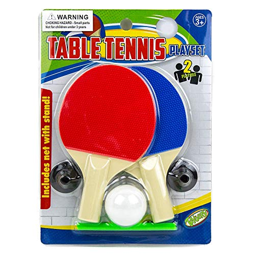 Velocious Table Tennis Racquets Play Pack Table Tennis Racket Set, Specially for ( 3 to 9 Year Old ) Kids , 1 Mini Ping Pong Game Balls, Net, and Stand , Great for Beginners and Kids, ( Red & Blue )