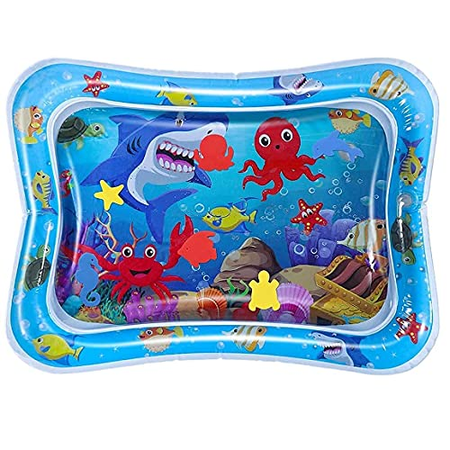 DKdas Baby Water Kids Play Mat Toys Inflatable Tummy Time Leakproof Water Play Mat, Tummy Time,Fun Activity Play Center Indoor and Outdoor Water Play Mat for Baby