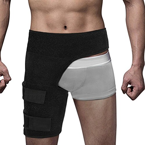 Healifty Hip Thigh Support Groin Support Brace Compression Thigh Strap Wrap for Recovery Sports Pain Relief