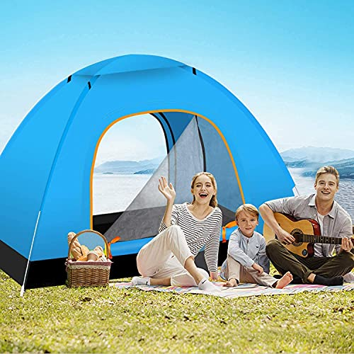 Kixre Outdoor Family Beach Camping Hiking Easy Set Up Waterproof Lightweight Backpacking Camping Tent with Sun Shelter Dome for 5-6 Person (Multicolor, Large)
